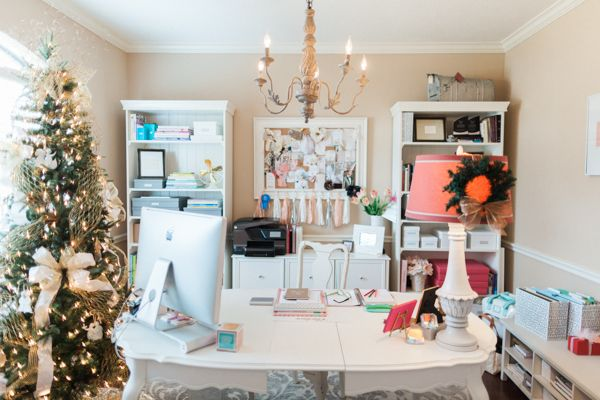 girly christmas office jen dillender