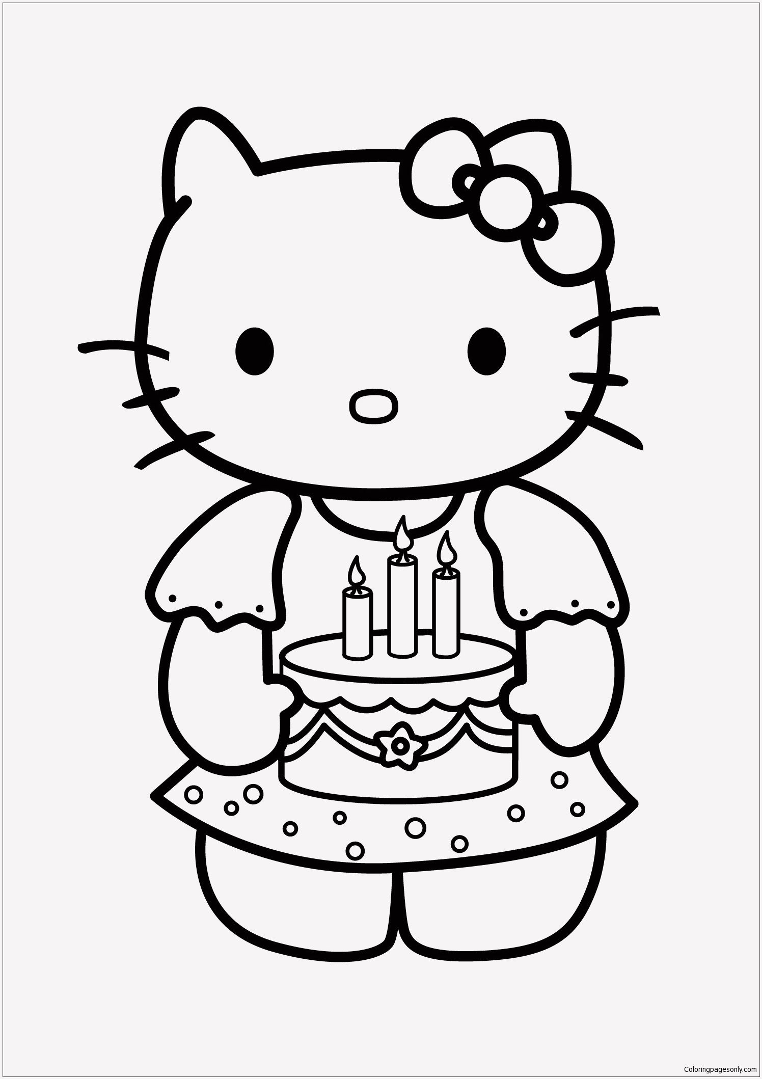 18 Baby Hello Kitty Coloring Pages In 2020 Happy Birthday Coloring Pages Birthday Coloring Pages Hello Kitty Colouring Pages