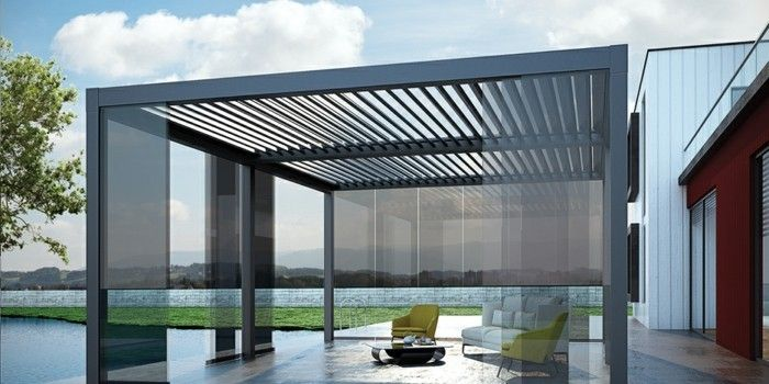 pergola moderne 99 id es inspirantes pergolas porch and patios. Black Bedroom Furniture Sets. Home Design Ideas