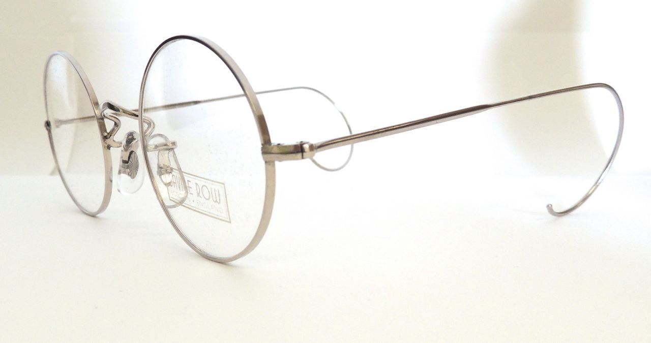 3fe4798369 CLASSIC VINTAGE SAVILE ROW 14k Gold Filled 49mm Round Spectacles With  Hooked Ears Curlsides