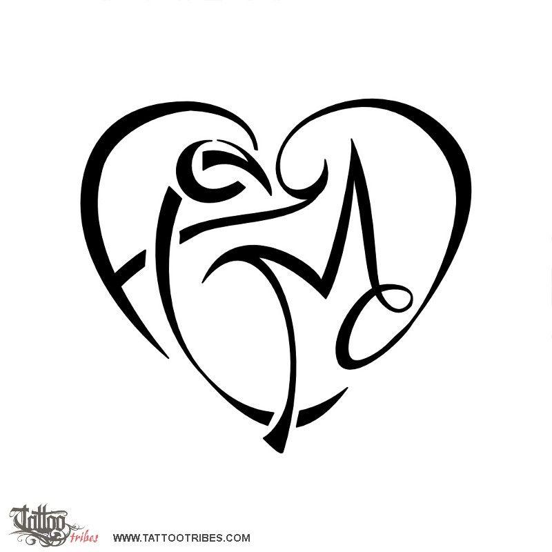 Tatuaggio Di Cuore F C M D Unione Tattoo Tatuaggio Iniziale Tatuaggi Idee Per Tatuaggi