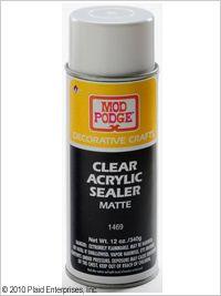 Mod Podge Paint Sealer : podge, paint, sealer, Plaid, Podge, Clear, Acrylic, Sealer, Matte,, Podge,, Crafts,, Projects