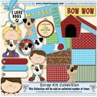 Great for Creating fun lessons!!  Me and My Puppy Scrapkit by Clipart4Resale Includes: Best Friend Frame, blue ribbon, bone, bowwow word art, boy and puppy, doghouse, girl and puppy...
