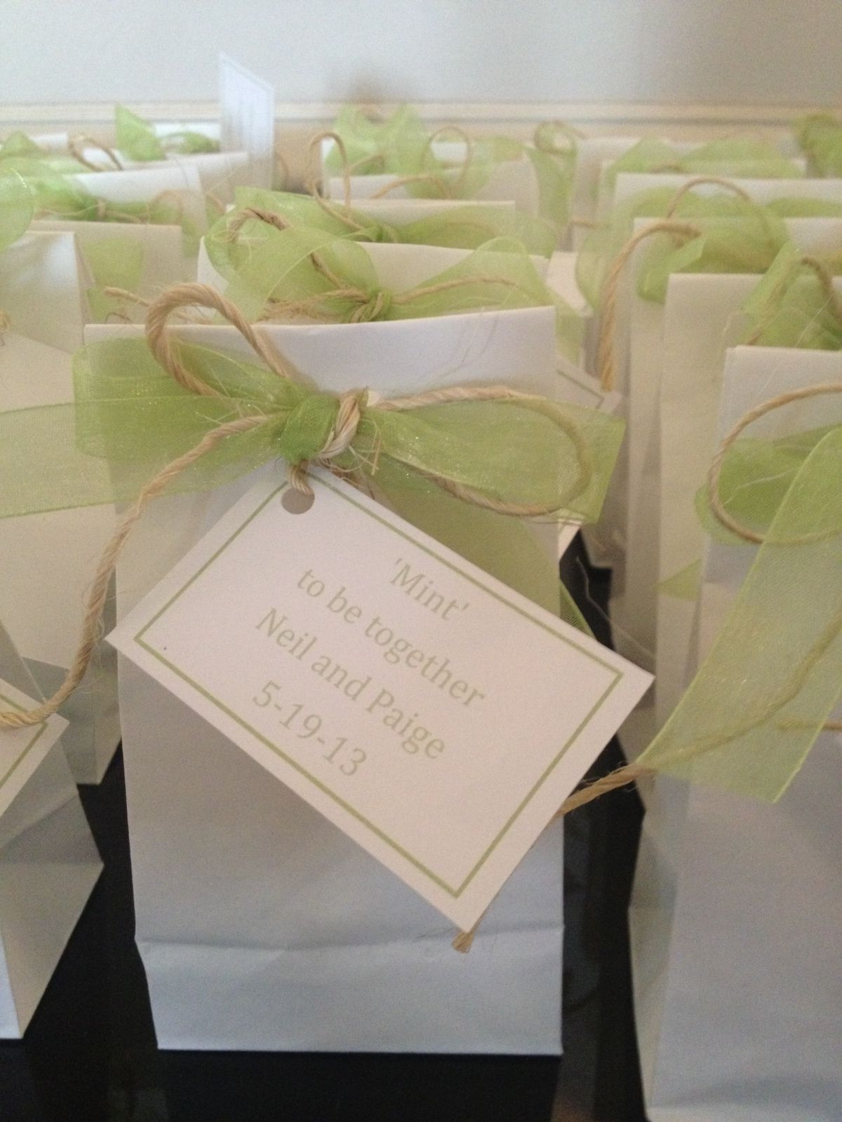 Wedding Rehearsal Dinner Gifts: Rehearsal Dinner Favor Bags Filled With Assorted Mints
