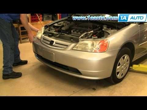 How To Install Replace Remove Front Bumper Cover Honda Civic 01 05 1aauto Com Youtube Honda Accord Lx Honda Civic 1998 Jeep Grand Cherokee