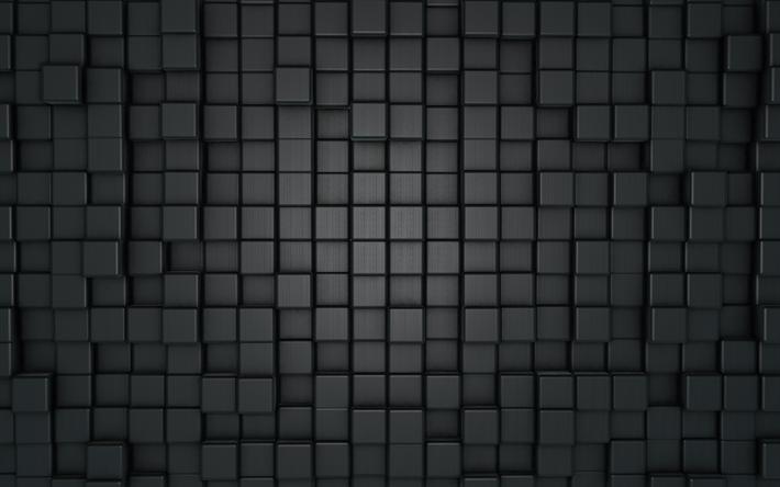 Download Wallpapers Gray Cubes Texture 4k 3d Art Gray Squares 3d Grid Cubes Cubes Pattern Cubes Texture Cube Pattern Galaxy Wallpaper Grey Art