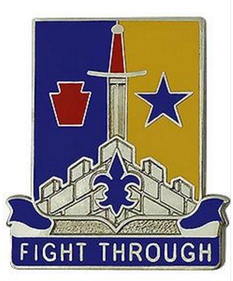 Special Troops Battalion, 55th Brigade Combat Team, 28th Infantry Division Unit Crest (Fight Through)