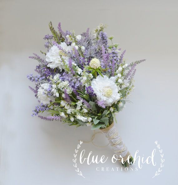 Wildflower Brautstrauss Rustikale Bouquet Lavendel Wildblumenstrauss Shabby Chic Bouquet Wildflower Bridal Bouquets Flower Bouquet Wedding Wildflower Bouquet