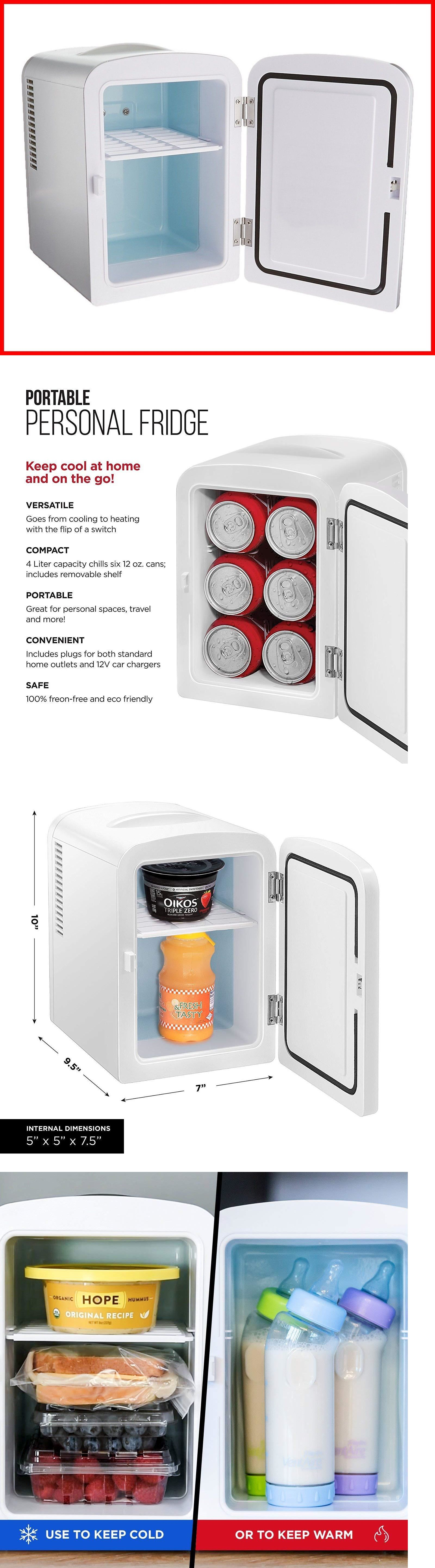 Details About Portable Small Compact Fridge Refrigerator Cooler Warmer Dorm Bedroom Travel Refrigerator Cooler Compact Fridge Mini Fridges