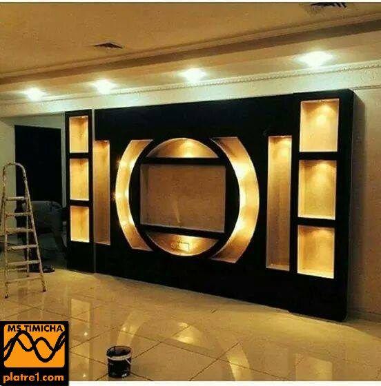 Decoration Interieur Tv  Platre Ideas    Sjour Et Platre