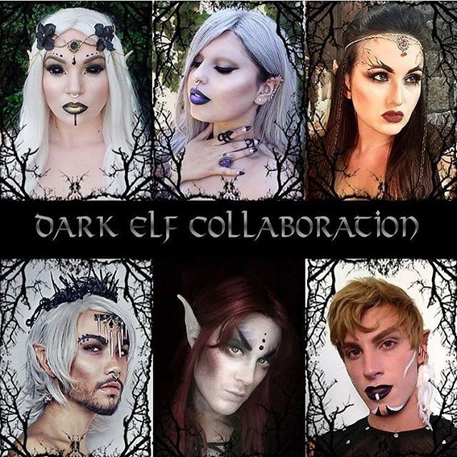 """Dark Elf Collab with these gorgeous people  @frecklesfairychest @atlantisfae @demyxreset @ian_hencher @mr.vacanti"" Photo taken by @missjazminad on Instagram, pinned via the InstaPin iOS App! http://www.instapinapp.com (09/26/2015)"