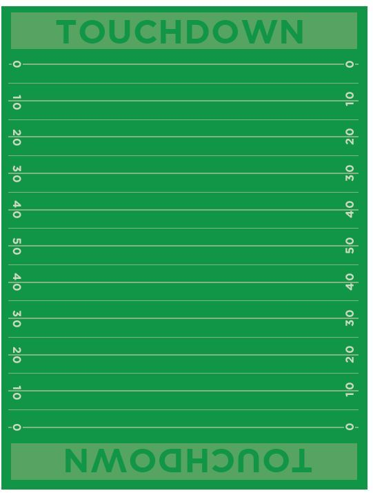 Football Field Free Printable Paper Cute for decorating a party