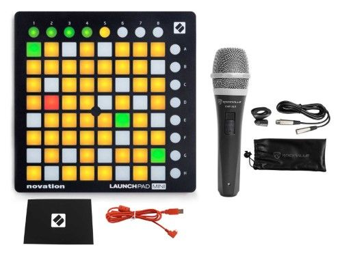 Novation Launchpad Mini MK2 Mkii USB Midi DJ Controller 64-Pad+Mic+