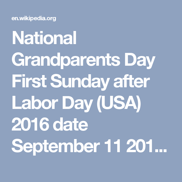 Pin On  Natl Grandparents Day