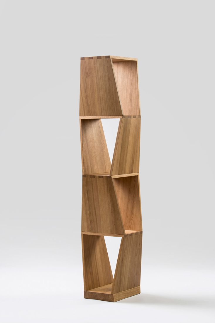 Kubist. Tall bookcase with a narrow footprint. Jan Padrnos.