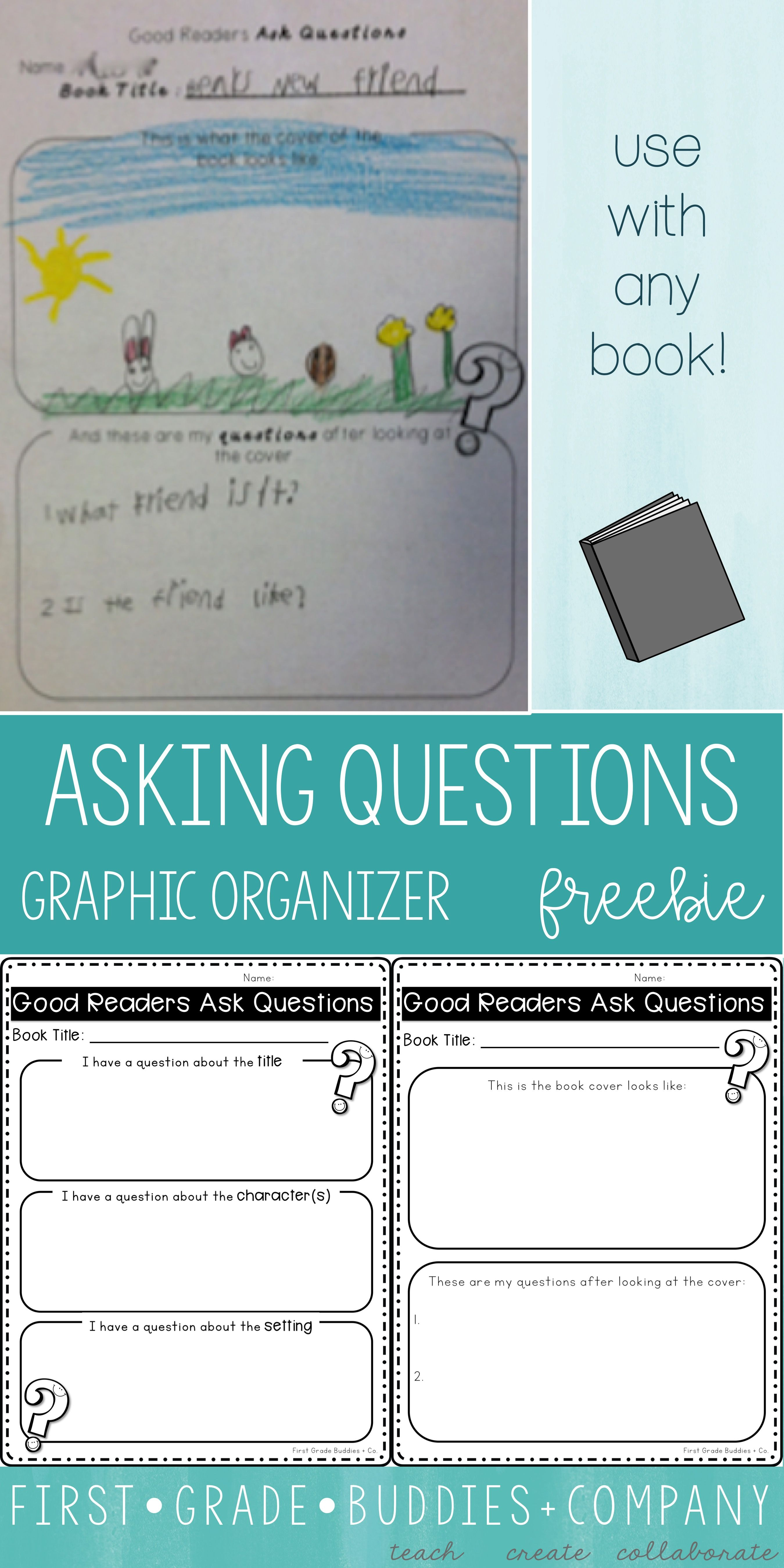 First Grade Buddies: Graphic Organizers for ANY Book! We created one great  big F…   Upper elementary reading [ 5399 x 2699 Pixel ]