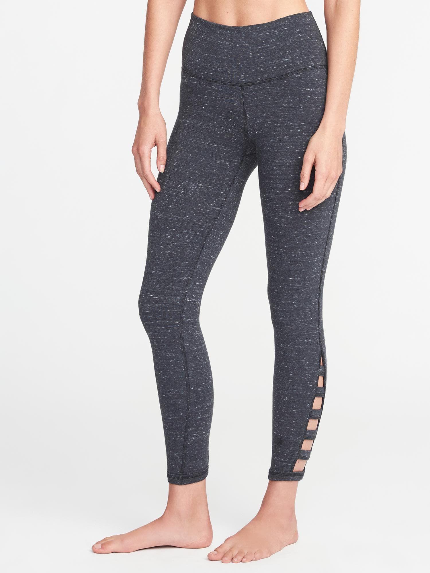 ab669b18f78c1 High-Rise Go-Dry Lattice-Hem 7/8-Length Leggings for Women   Old Navy