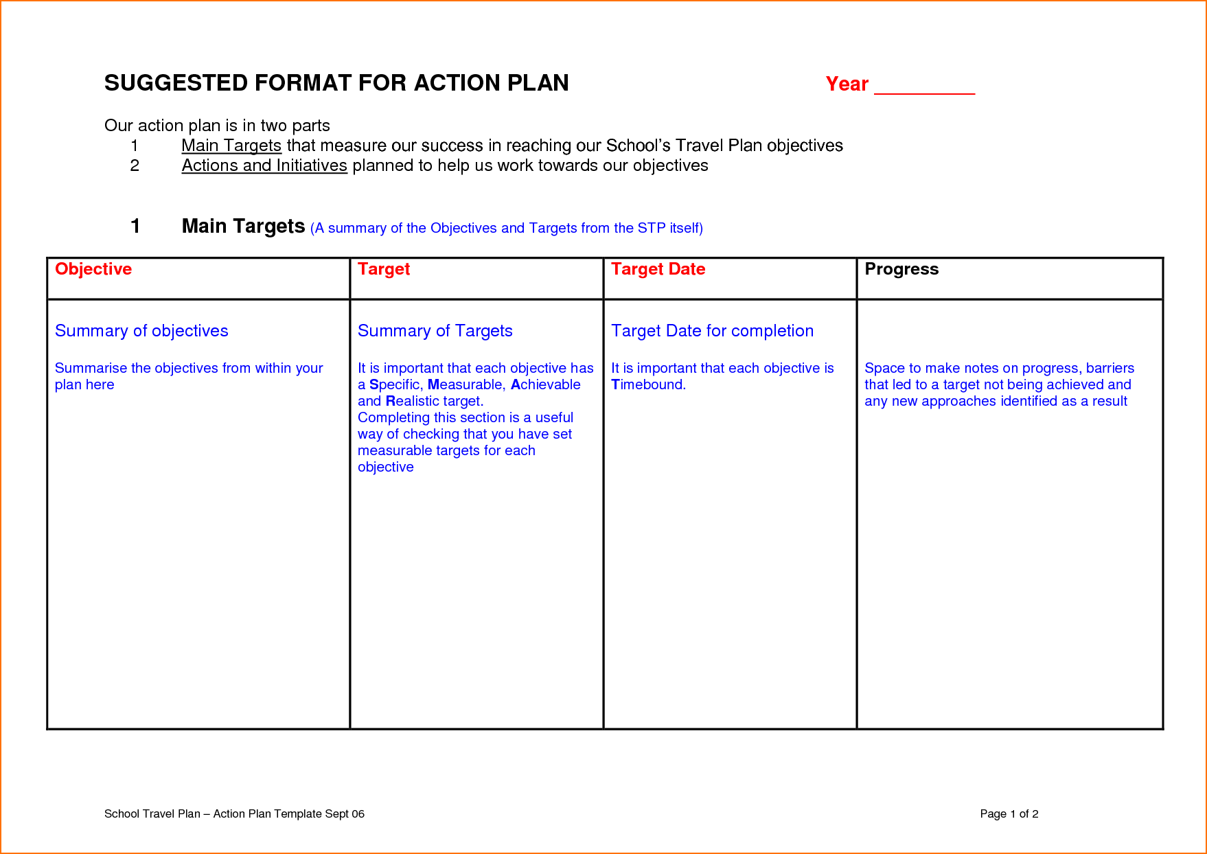 29 Sample Action Plan Template Teknoswitch Teacher Template