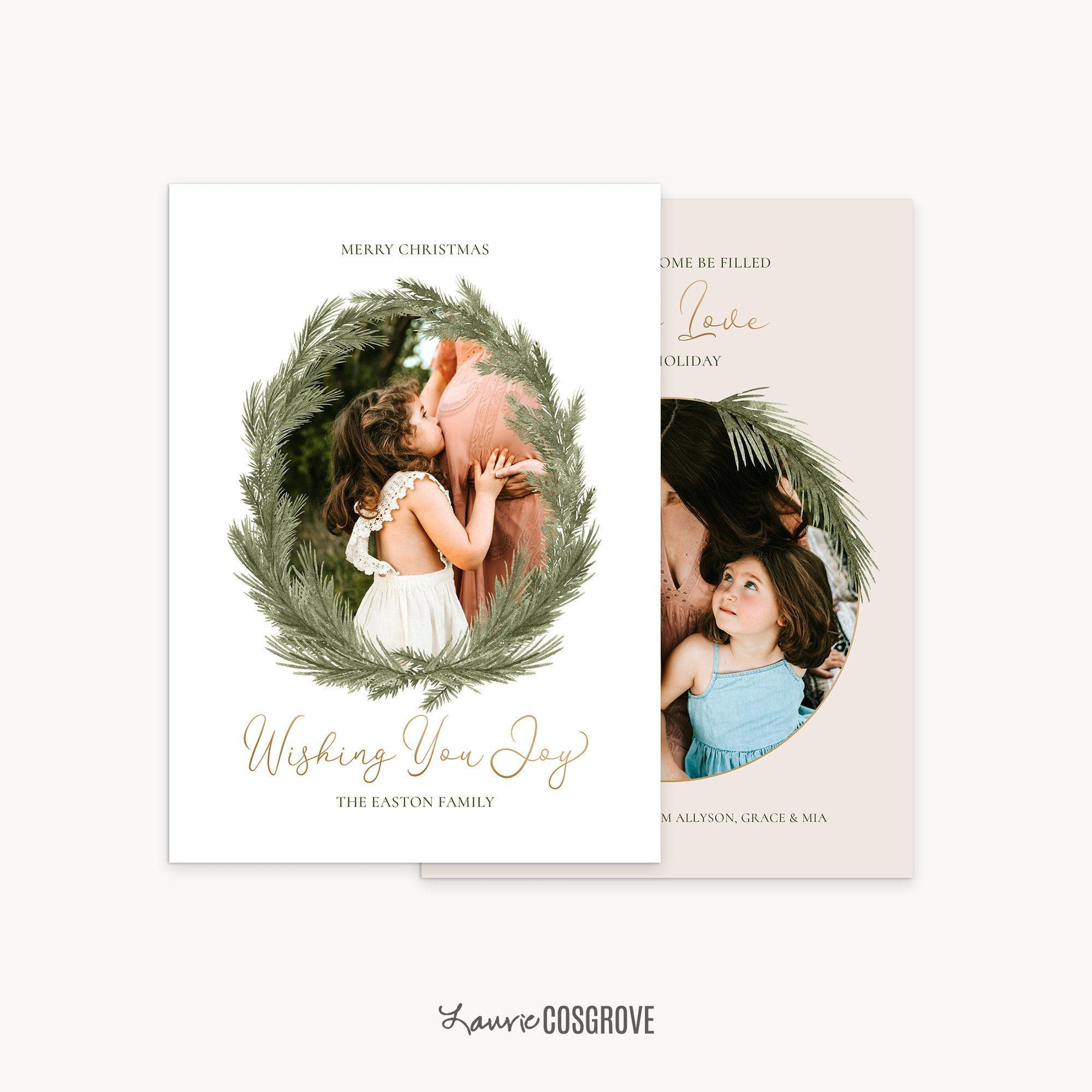 2020 Christmas Card Template 5x7 Holiday Card Template For Etsy Christmas Card Template Holiday Card Template Elegant Holiday Cards
