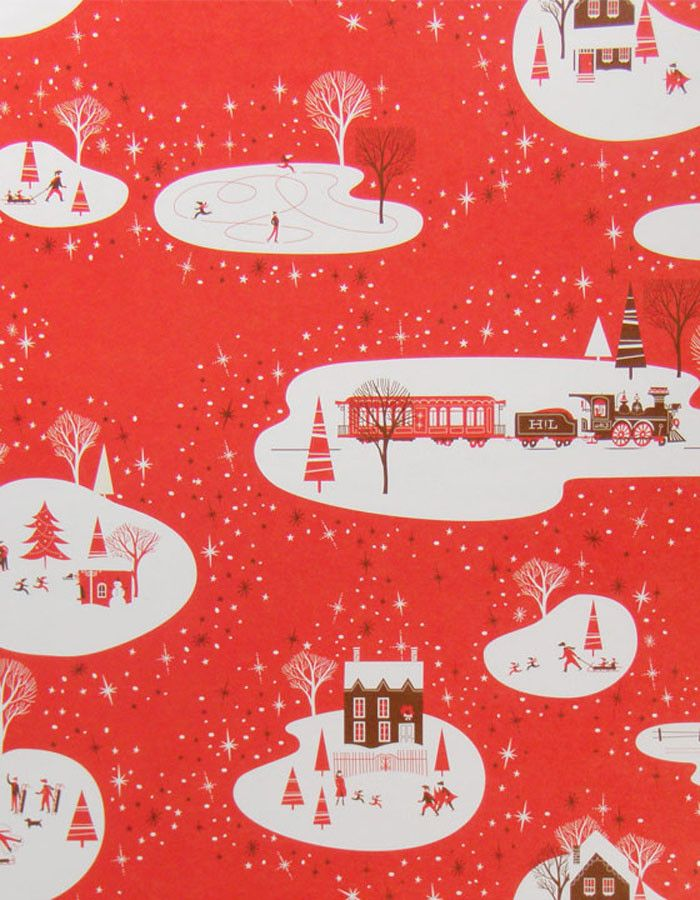 Hello!Lucky Winter Wonderland Gift Wrap Roll - eclectic - holiday decorations - Luxe Paperie