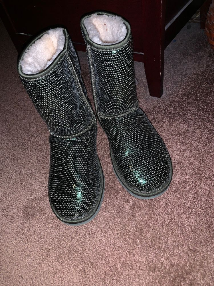 d10f3141389 green sparkle uggs size 6 #fashion #clothing #shoes #accessories ...