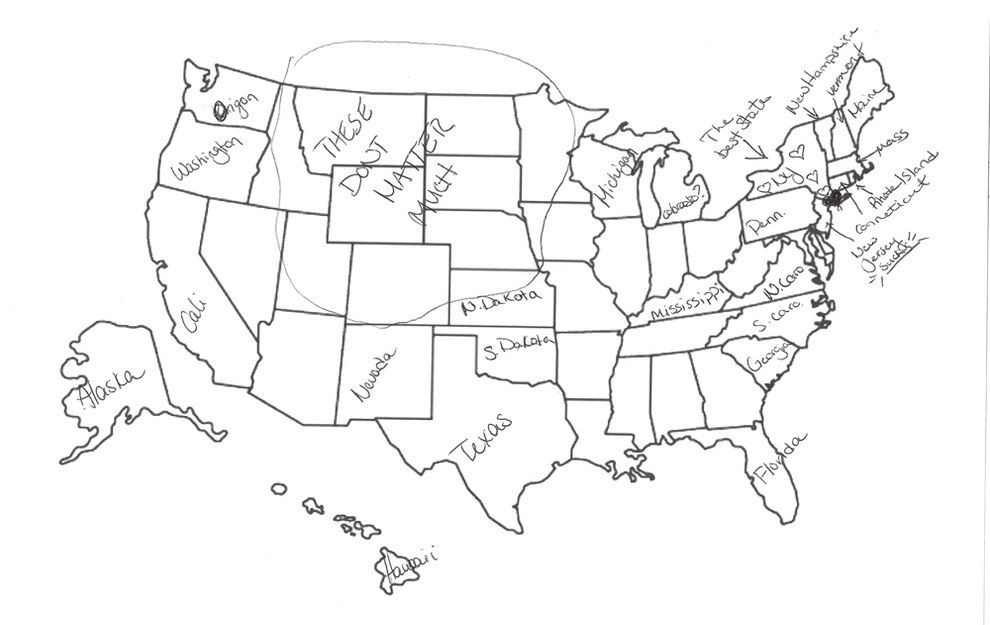 Brits Try And Fail To Label The United States Because Its A - Us map massachusetts highlighted