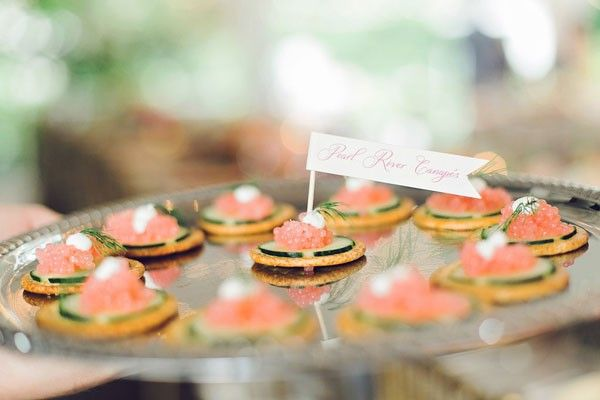 We are craving these caviar small bites from a pink + gold inspiration shoot in the South. See all the elegant details by clicking on the image.