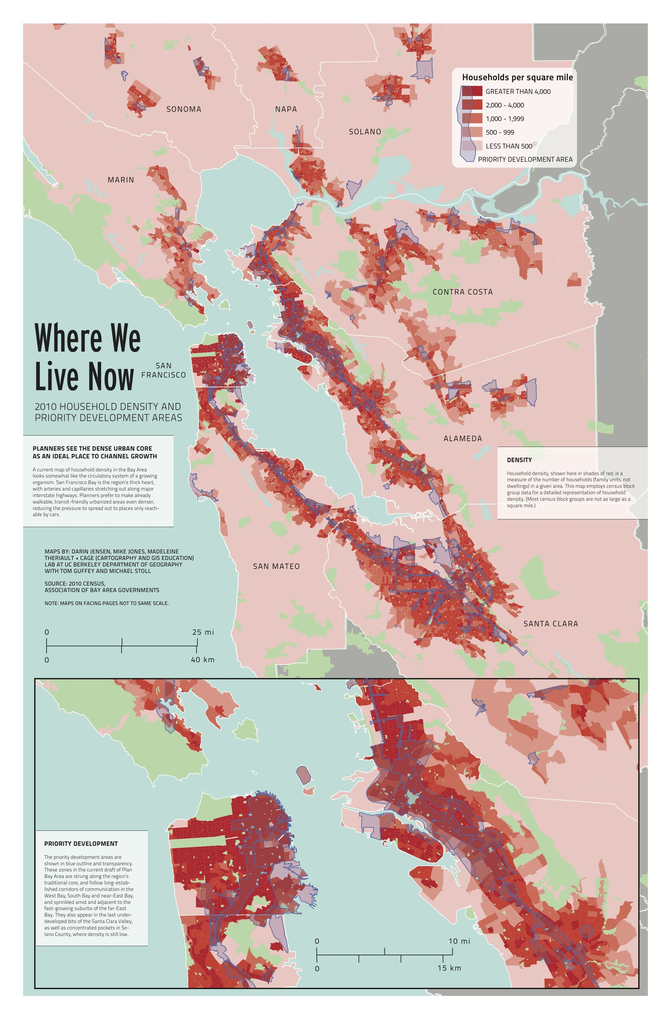 Population Density Map Of The Bay Area Courtesy San Francisco Public Press Cool Live In The Now California State Government Map Alameda, contra costa, marin, napa, san francisco, san mateo, santa clara, solano and sonoma. population density map of the bay area