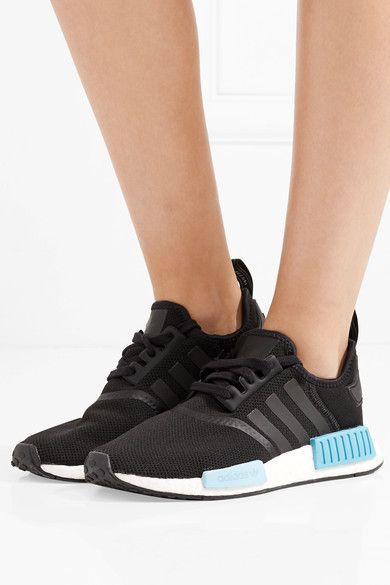 47f9078dacc73 adidas Originals - Nmd r1 Rubber-paneled Primeknit Sneakers - Black ...