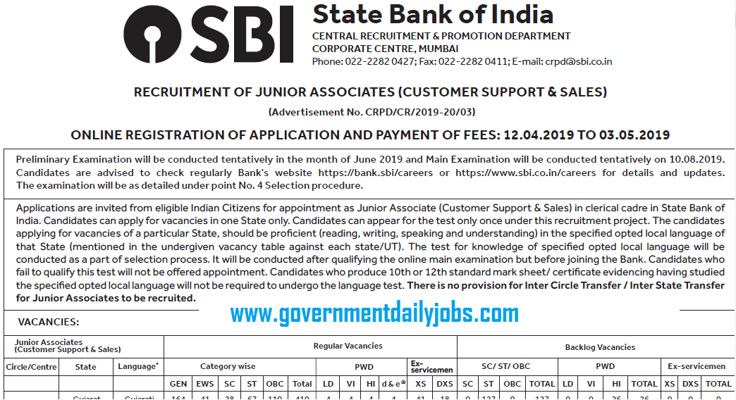 Application For Recruitment Of Junior Associates