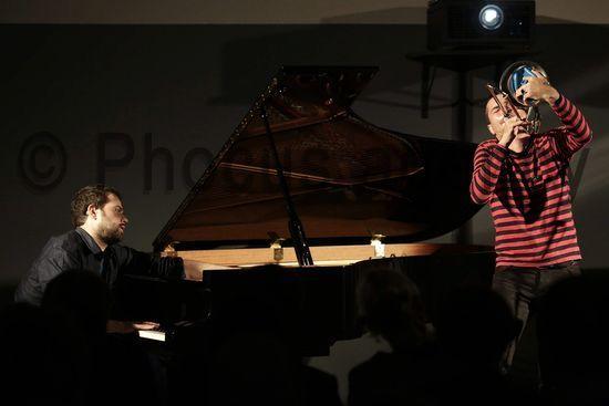 Passariano di Codroipo, 18/10/2014 - Jazz&Wine of Peace 2014 - Gianluca Petrella e Giuovanni Guidi - www.phocusagency.com - www.eliafalaschi.it #eliafalaschi #phocusagency #musicphoto #live #livephoto #gianlucapetrella #giovanniguidi #jazz&wine