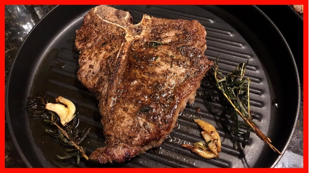 Cooking The Best T Bone Steak On The Stove Oven Pan Seared Butter Basted And Baked Youtub Thin Steak Recipes T Bone Steak Recipe In Oven Steak On Stove