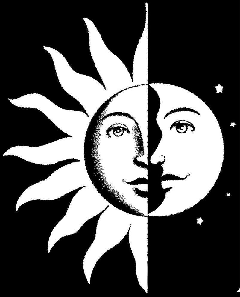 Poster Vintage Eclipse Solar Sol Y Luna De Magneticmama Vintage Tattoo Design Vintage Tattoo Tattoos