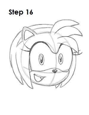 How To Draw Amy Rose Amy Rose Disney Drawing Tutorial Drawing Tutorial