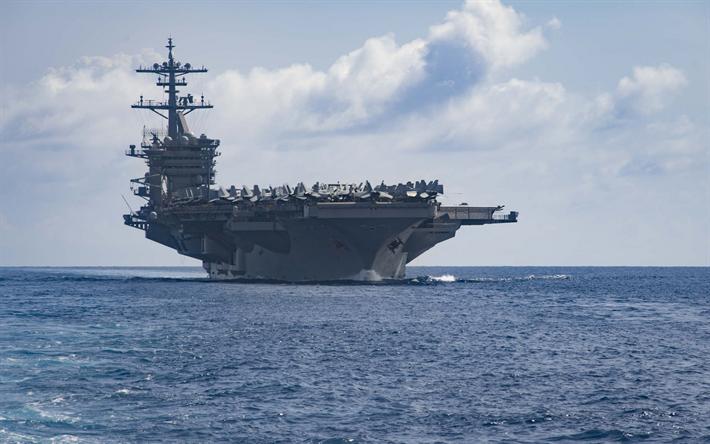 Download wallpapers USS Theodore Roosevelt, CVN 71 ...