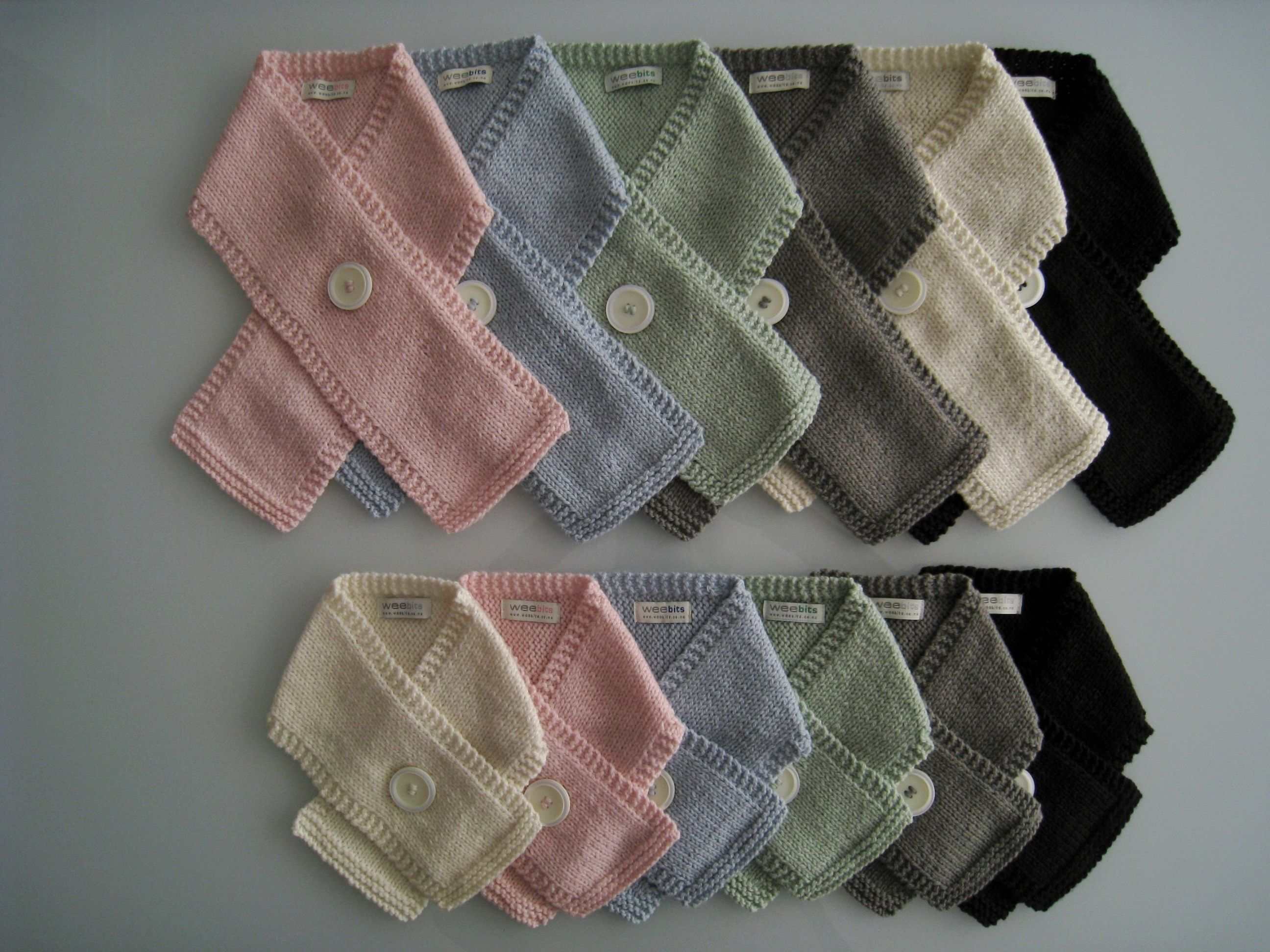 Weebits eco merino button scarves Knits for Babies