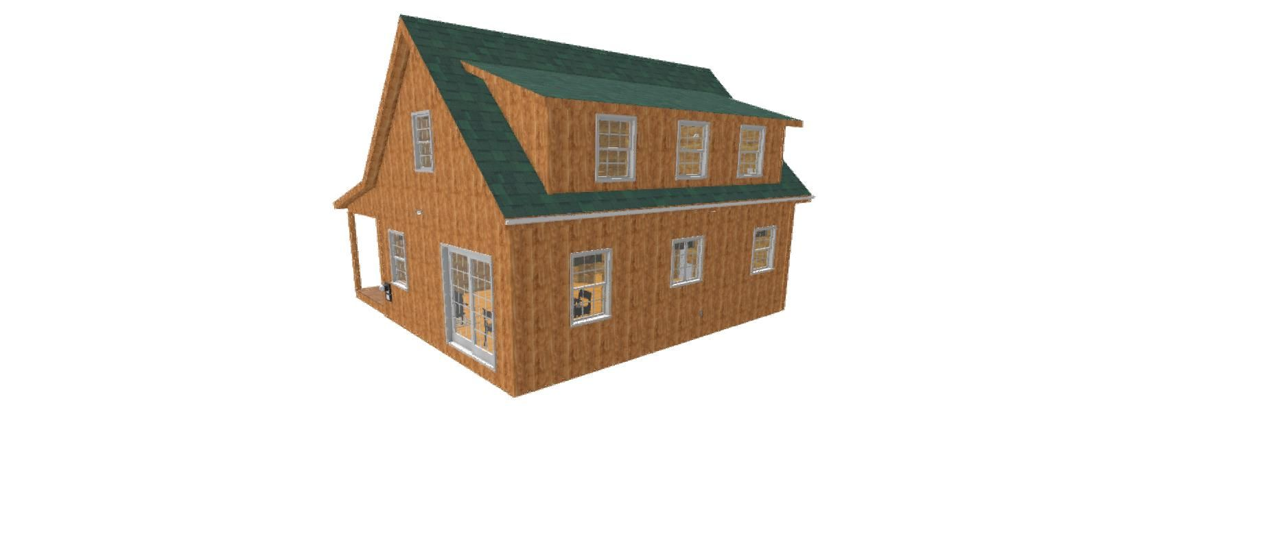 Adirondack Cabin Plans 18 X24 With Cozy Loft And Front Porch 1 5 Bath Cabin Cabin Plans Cabin Floor Plans