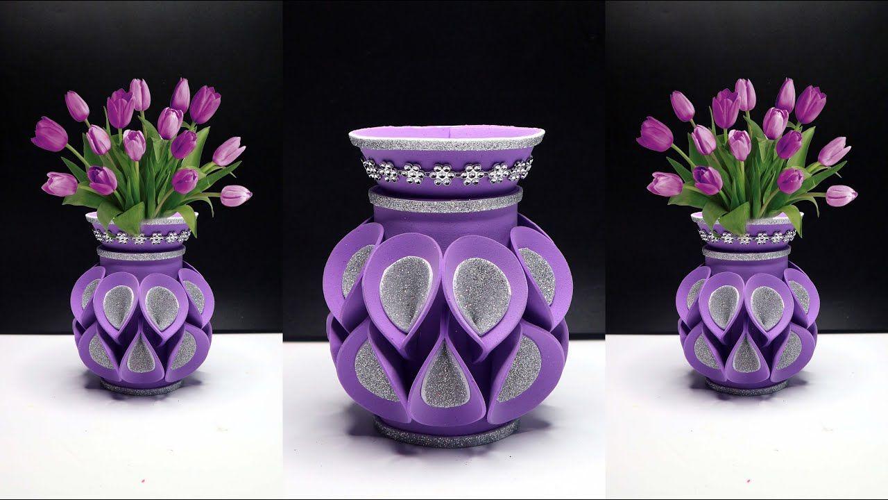 Ide Kreatif Vas Bunga Dari Botol Plastik Bekas Air Mineral