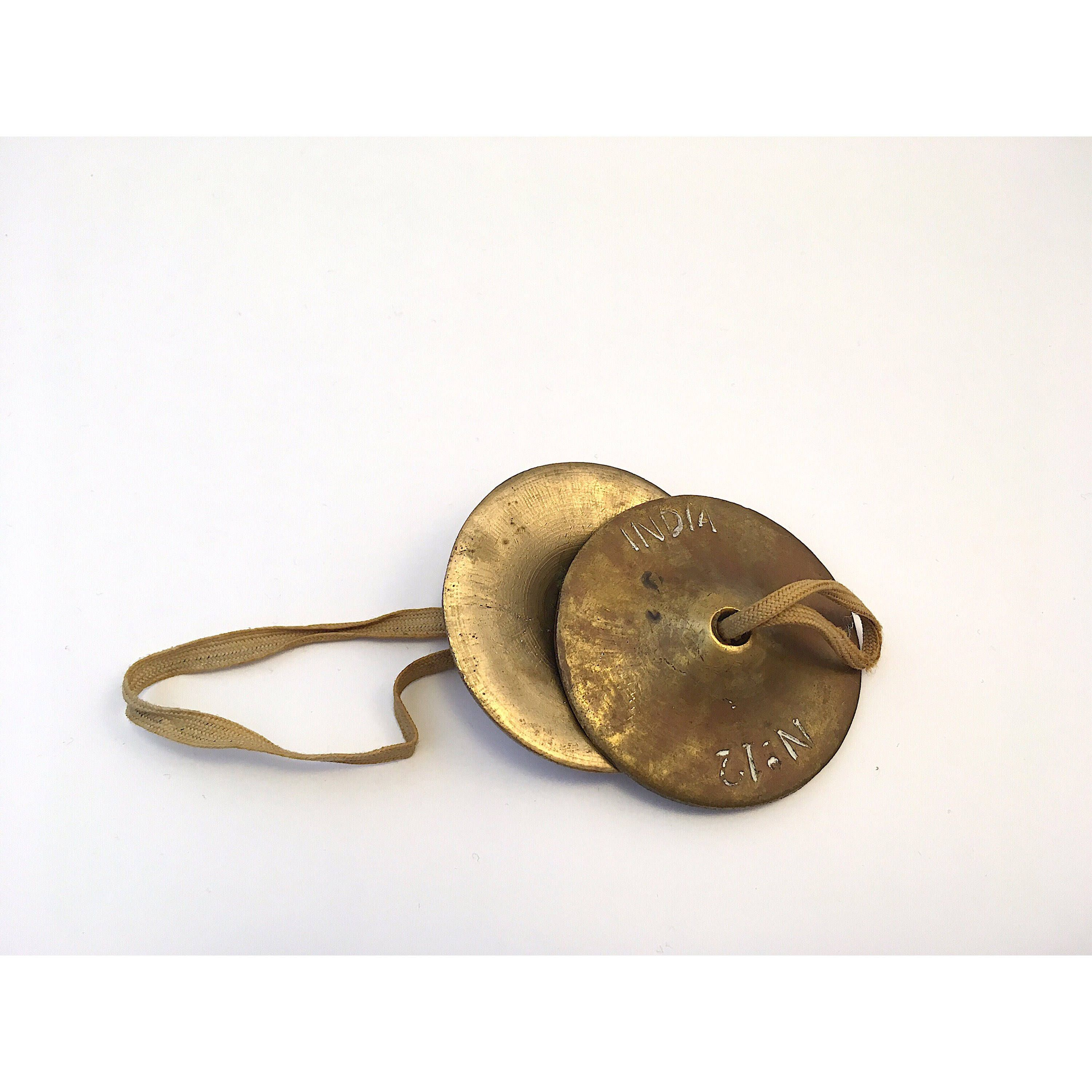 No Need To Spend A Fortune On These: Vintage Indian Brass No. 12 Collectible Hand Cymbals These