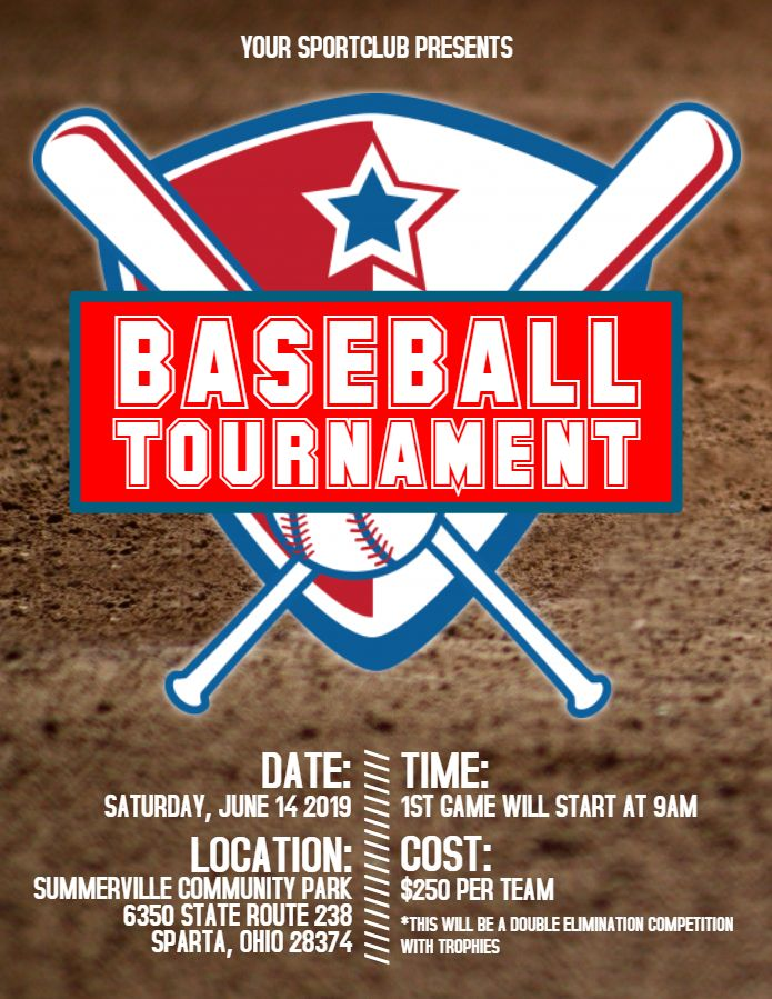 Baseball Flyer Or Social Media Post Template  Baseball Poster