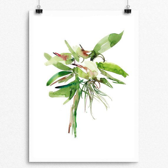 Beautifully painted with Watercolor  PTP Flower Series 044  Pear Tea Paperie Original Flower Series  INSTANT DIGITAL PRINT   No Physical Paintings