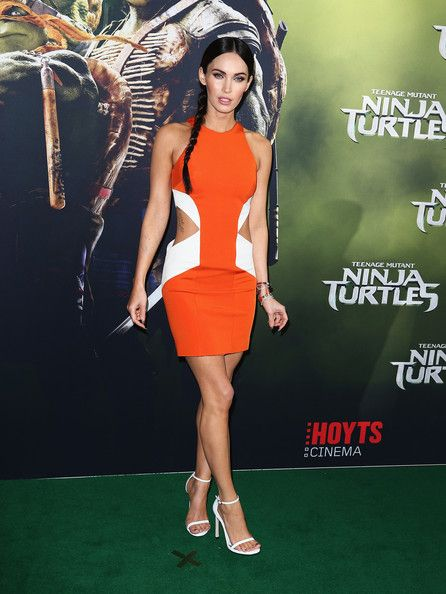 0a7af637a0c Megan Fox Long Side Part - Megan Fox Looks - StyleBistro Evening Sandals