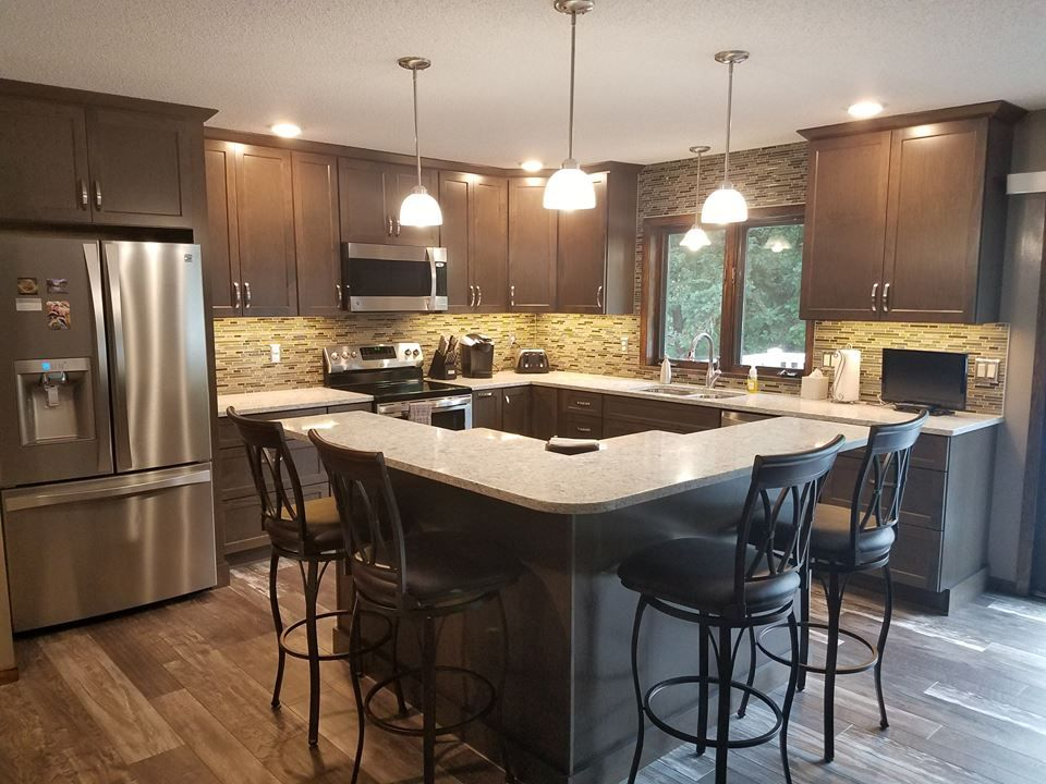 """Maple Cabinets in a """"Driftwood"""" Stain with """"Everest ... on Maple Kitchen Cabinets With Quartz Countertops  id=60686"""