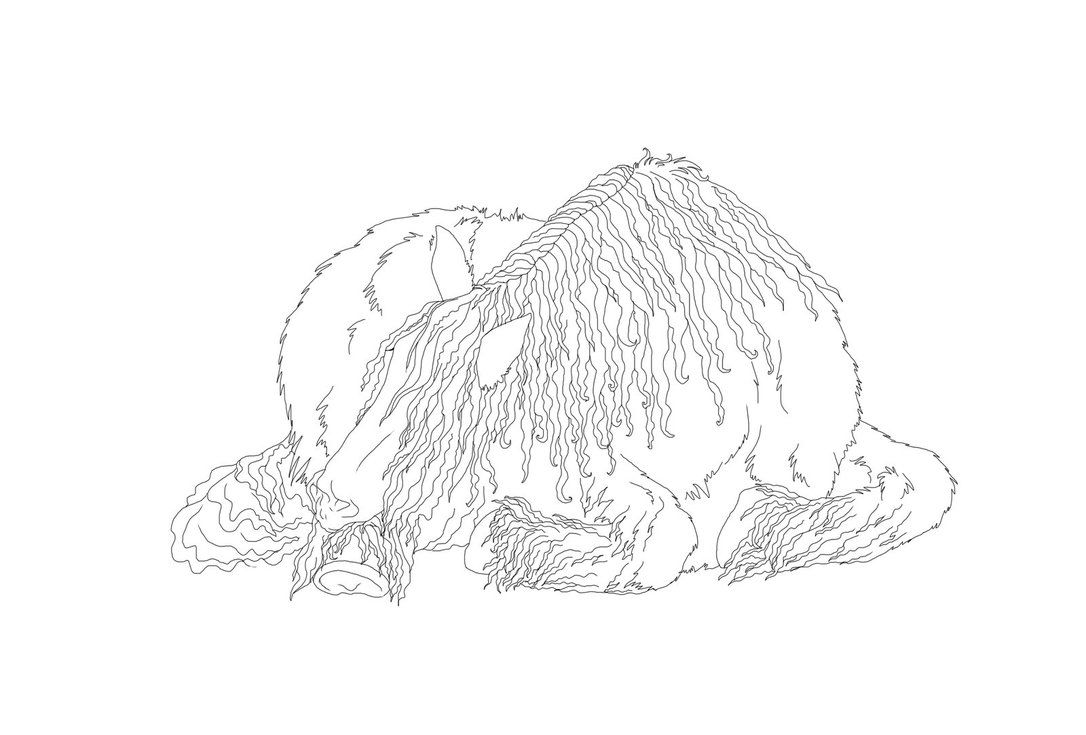 Sleeping Shire Horse Lineart Horse Coloring Pages Warmblood Horses Horse Coloring [ 735 x 1086 Pixel ]