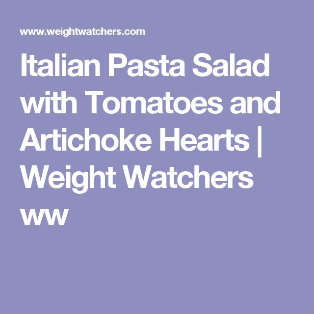 Italian Pasta Salad with Tomatoes and Artichoke Hearts | Weight Watchers ww 5