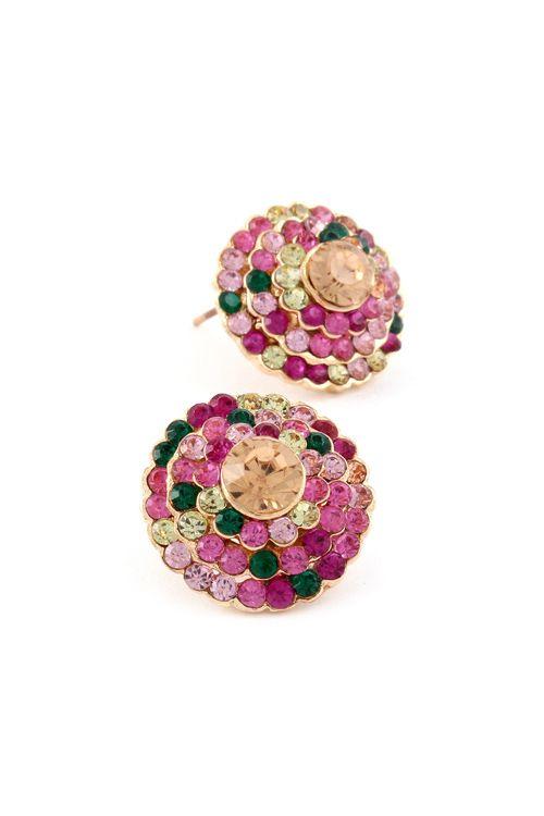 Crystal Averly Earrings//
