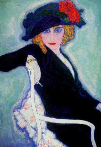 Woman with Cigarette - Leo Gestel   Dutch painter 1881-1941