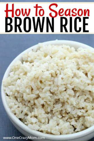 How to Season Brown Rice - The best Seasoned Brown Rice Recipes #seasonedricerecipes