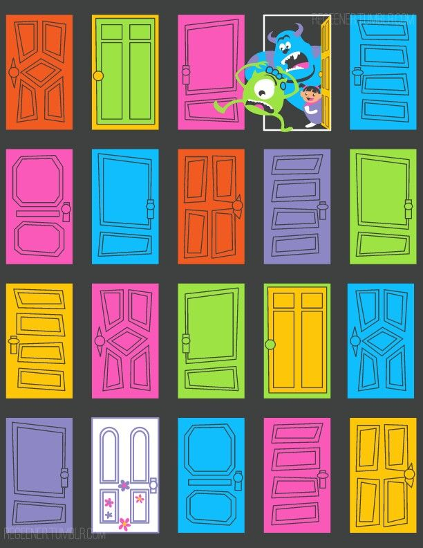 Monsters Inc Door Illust Google 検索 ドア イラスト