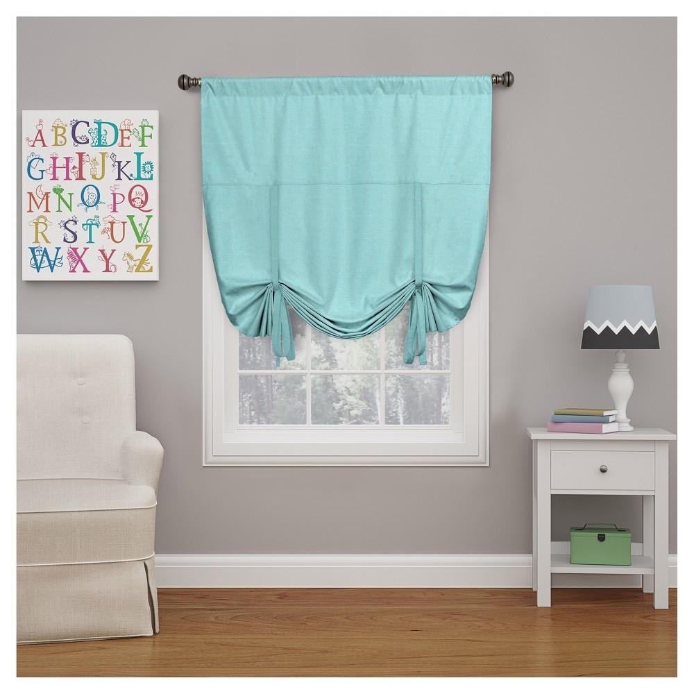 Basement window coverings outside  curtain panels eclipse my scene blue solid pool blue  pinterest